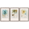 3848 Watercolor Palms, Pack of 3