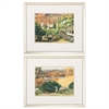 Propac Images 3854 Watercolor Garden, Pack of 2