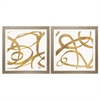 Propac Images 3892 Golden Swirls Square, Pack of 2