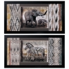 Propac Images 3902 Elephant Zebra, Pack of 2