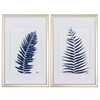 Propac Images 3923 Indigo Ferns, Pack of 2
