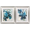 Propac Images 4127 Flowers Azure, Pack of 2