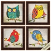 Propac Images 4198 Owls, Pack of 4