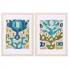 4819 Teal Ikat, Pack of 2