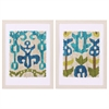 Propac Images 4820 Teal Ikat, Pack of 2