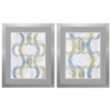 Propac Images 4898 Geometric Repeat, Pack of 2