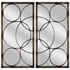 8226 Geometric Mirror, Pack of 2