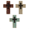 8314 Distressed Crosses, Pack of 3