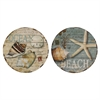 8331 Wood Coastal Plaque, Pack of 2