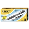 BIC BU3 Retractable Gel Roller Ball Pen, Medium, .7mm, Black, Dozen