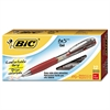 BIC BU3 Retractable Gel Roller Ball Pen, Medium, .7mm, Red, Dozen