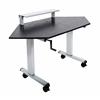 "Luxor STANDUP-CCF60-B  60"" Standing corner desk"
