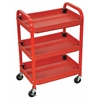 Adjustable red utility cart