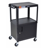 "Black 42"" Adj Height Cart w/ Cabinet"