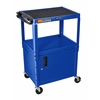 "Blue 42"" Adj Height Cart w/ Cabinet"