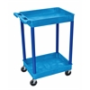 Blue 2 Shelf Tub Cart