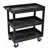 HD High Capacity 3 Tub Shelves Cart in Black