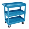HD High Capacity 3 Tub Shelves Cart in Blue