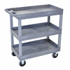 HD High Capacity 3 Tub Shelves Cart in Gray