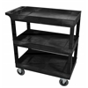 Black 18x32 3 Tub Cart W/ SP5 Casters