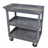 Gray 18x32 3 Tub Cart W/ SP5 Casters