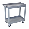 High Capacity 2 Tub ShelvesCart in Gray
