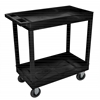 Black 18x32 2 Tub Cart W/ SP5 Casters