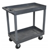 Gray 18x32 2 Tub Cart W/ SP5 Casters