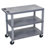 Gray EC222-G 18x32 Cart 3 Flat Shelves