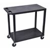 Black EC22-B 18x32 Cart with 2 Flat Shelves