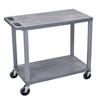 Gray EC22-G 18x32 Cart with 2 Flat Shelves