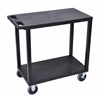 Black EC22HD-B 18x32 Cart with 2 Flat Shelves