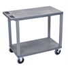 Gray EC22HD-G 18x32 Cart with 2 Flat Shelves