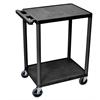 2 Shelf Utility Cart Black