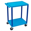 Luxor 2 Shelf Utility Cart Blue