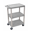 3 Shelf Utility Cart Gray