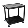 Luxor 2 Shelf Utility Cart Black
