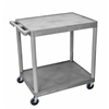 2 Shelf Utility Cart Gray