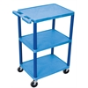 3 Shelf Utility Cart Blue