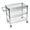 3 Shelf Chrome Wire Tub Cart