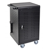 Black 30 Computer Tablet Charging Cart