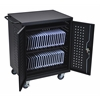 Luxor Black 42 Computer Tablet Charging Cart