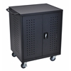 Black 42 Computer Tablet Charging Cart