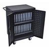 Luxor Black 24 Laptop Computer Charging Cart