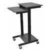 Luxor Gray 3 Shelf Adjustable Height Computer Workstation
