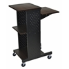 Luxor Walnut 4 Shelf Mobile Presentation Station