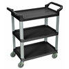 3 Shelf Black Serving Cart