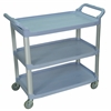 Large 3 Shelf Gray Serving Cart