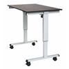 "Luxor STANDE-48  48"" Electric Standing Desk Gray/Black"