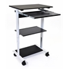 STAND-WS30 Mobile 3 Shelf Adjustable Stand Up Workstation